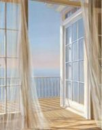 View of the sea from the window - Oil Painting Reproduction On Canvas