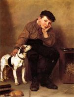 Sympathy - John George Brown Oil Painting