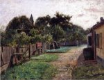 Village Scene - Theodore Clement Steele Oil Painting