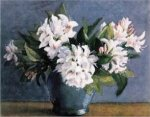 A bunch of white flowers in a vase - Oil Painting Reproduction On Canvas