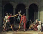 Oath of the Horatii, 1784 - Jacques-Louis David Oil Painting