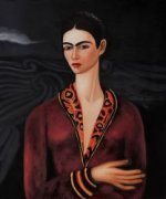 Self Portrait in a Velvet Dress - Oil Painting Reproduction On Canvas