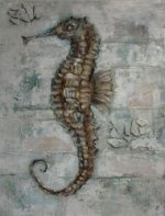 Decorative sea horse -oil painting