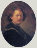 Self Portrait 25 - Rembrandt van Rijn Oil Painting