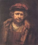 Self Portrait 23 - Rembrandt van Rijn Oil Painting