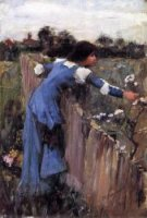 The Flower Picker (sketch) - Oil Painting Reproduction On Canvas