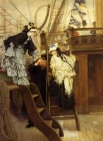 Boarding the Yacht - James Tissot Oil Painting