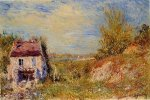 Abandoned House II - Alfred Sisley Oil Painting
