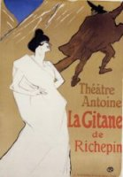 La Gitane 'The Gypsy' - Henri De Toulouse-Lautrec Oil Painting