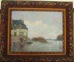 Inodation, Flood (Forgery?) - Alfred Sisley Oil Painting