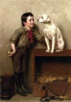 His Favorite Pet - John George Brown Oil Painting