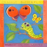 Two butterflies and a worm - Oil Painting Reproduction On Canvas