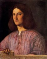 The Berlin Portrait of a Man - Giorgio Barbarelli da Castelfranco Oil Painting