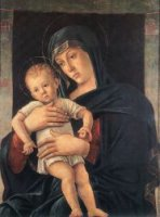 Madonna with the Child II - Giovanni Bellini Oil Painting