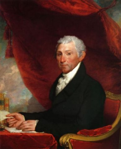 James Munroe II - Gilbert Stuart Oil Painting