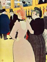 At the Moulin Rouge, La Goulue with Her Sister - Henri De Toulouse-Lautrec Oil Painting