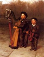 The Little Strollers - John George Brown Oil Painting