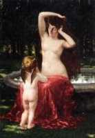 Sylvan Toilette - James Carroll Beckwith Oil Painting