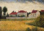 White Houses, Ville d'Avray - Georges Seurat Oil Painting