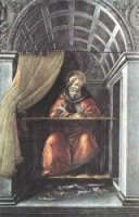 St Augustine in His Cell - Sandro Botticelli oil painting