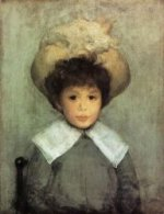 Arrangement in Grey: Portrait of Master Stephen Manuel - James Abbott McNeill Whistler Oil Painting