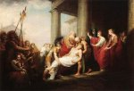 Priam Returning to His Family with the Dead Body of Hector - John Trumbull Oil Painting