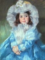 Margot in Blue - Mary Cassatt Oil Painting