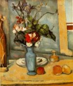 The Blue Vase - Paul Cezanne Oil Painting