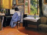 Lady at the Piano - Felix Vallotton Oil Painting