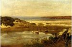 By the Sea, Newport, Rhode Island - Thomas Worthington Whittredge Oil Painting