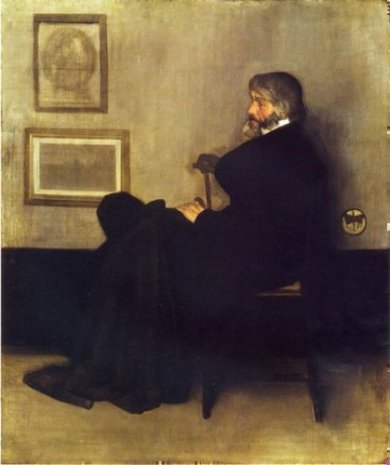Arrangement in Grey and Black, No.2: Portrait of Thomas Carlyle - James Abbott McNeill Whistler Oil Painting