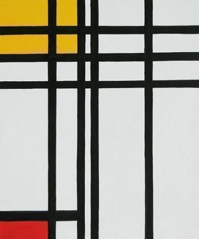 Opposition of Lines, Red and Yellow - Piet Mondrian Oil Painting