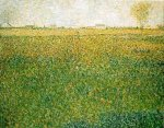 Alfalfa Fields, Saint-Denis - Georges Seurat Oil Painting
