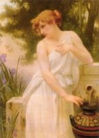 Beauty at the Well - Oil Painting Reproduction On Canvas