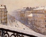 Boulevard Haussmann, Snow - Gustave Caillebotte Oil Painting