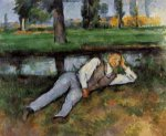 Boy Resting - Paul Cezanne Oil Painting