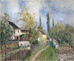 A Path at Les Sablons - Alfred Sisley Oil Painting