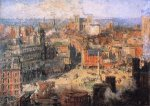 Columbus Circle - Colin Campbell Cooper Oil Painting