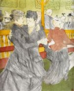 Dancing at the Moulin Rouge - Henri De Toulouse-Lautrec Oil Painting