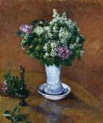 Still LIfe with a Vase of Lilacs - Gustave Caillebotte Oil Painting