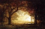 Forest Sunrise - Albert Bierstadt Oil Painting