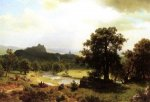 Day's Beginning - Albert Bierstadt Oil Painting