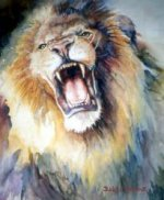 The Head of Roaring Lion - Oil Painting Reproduction On Canvas