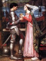 Tristram and Isolde - John William Waterhouse Oil Painting