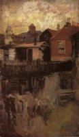 The Little Red House - James Abbott McNeill Whistler Oil Painting