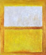 Untitled (White, Orange and Yellow) - Mark Rothko Oil Painting