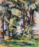 Large Trees at Jas de Bouffan - Paul Cezanne Oil Painting