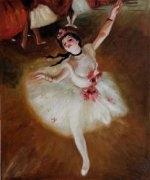 Star Dancer (On Stage) - Edgar Degas Oil Painting