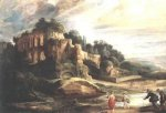 Landscape with the Ruins of Mount Palatine in Rome - Peter Paul Rubens Oil Painting