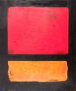 Untitled (Red, Orange over Black) - Mark Rothko Oil Painting
